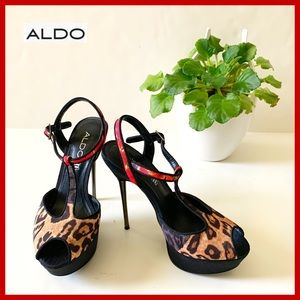 Aldo High heels animalistic print Shoes